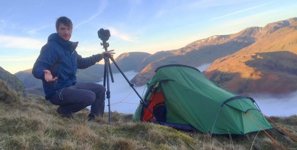 photographs while camping